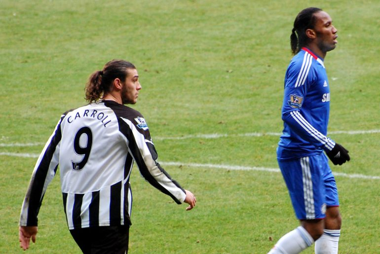 Andy Carroll and Didier Drogba