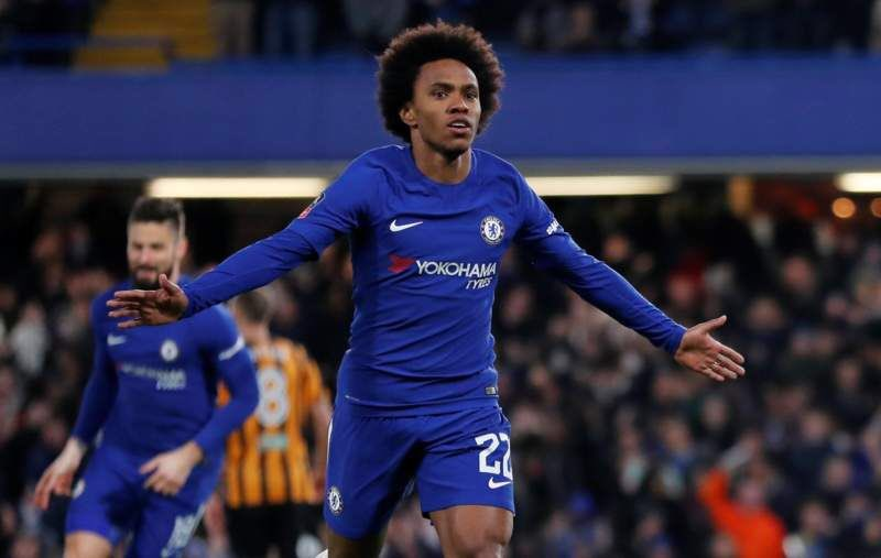 Willian Reveals Chelsea Players Happy For Higuain Chelsea Fc Online
